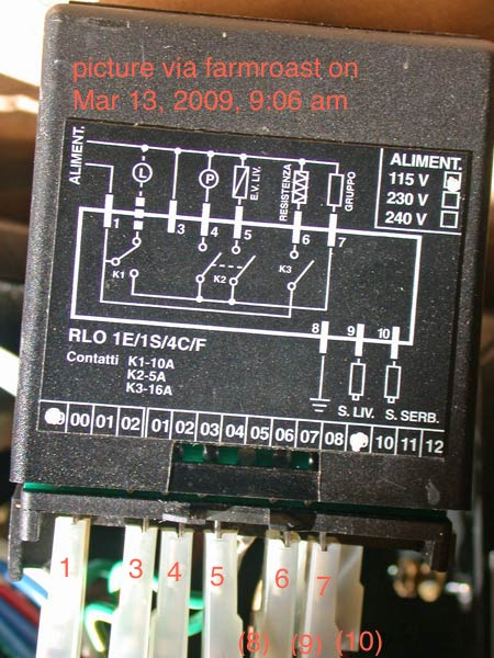 giemme rlo controller parker wb4 5 test help needed home all i did was add those red numbers so that it s clear which wires correspond the numbered labels on the circuit diagram 1 hot 3 neutral