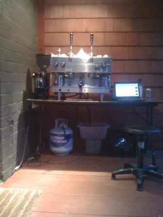 propane powered espresso machine