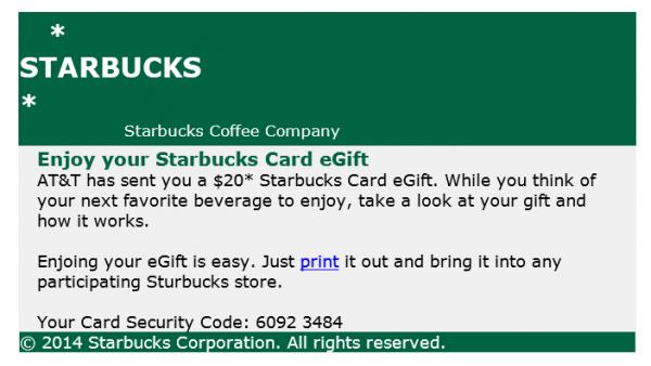 Beware of fraudulent starbucks egift card email negle Images