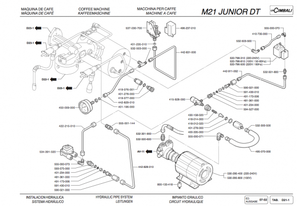 m21 rebuild diagram