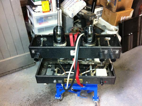 propane espresso machine