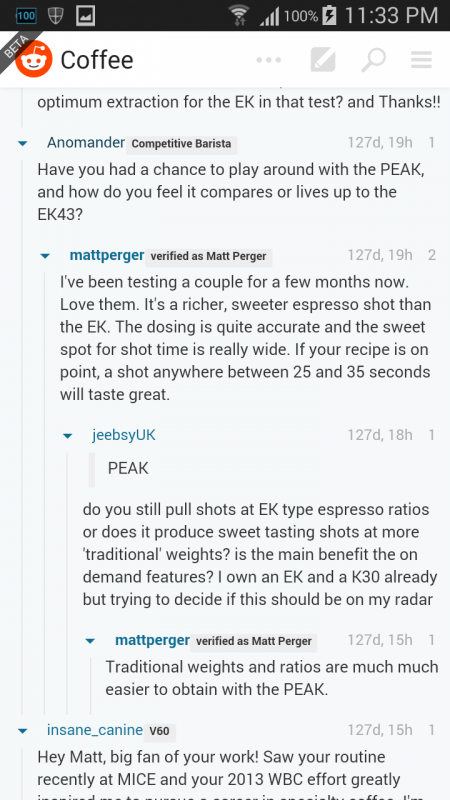 Mahlkonig K30 vs  Peak vs  EK43 - Buying Advice
