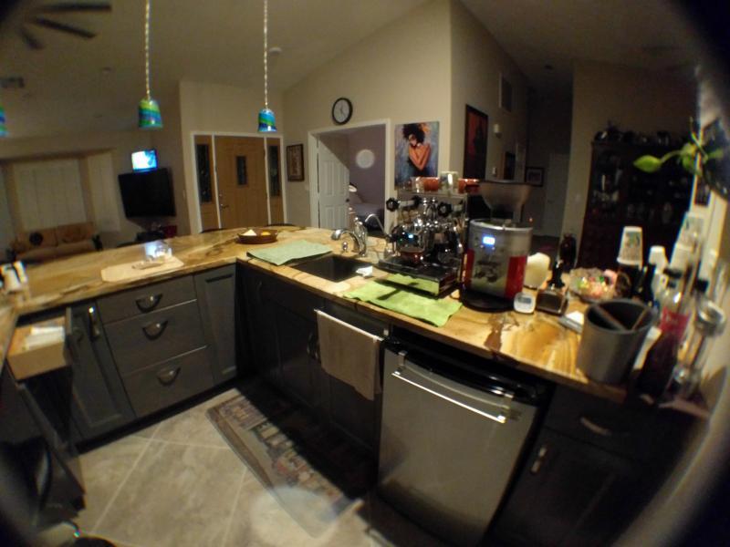 Kitchen Design With Espresso Area