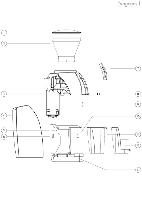 Mahlkonig Vario Home Exploded View
