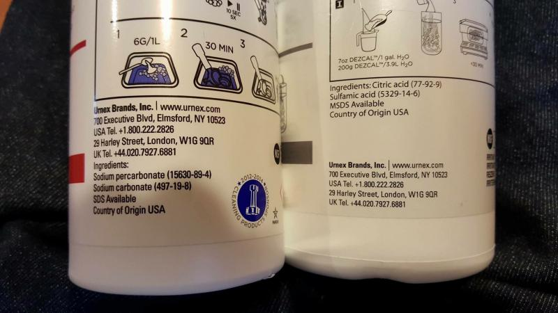 chemistry descaling coffee machines Descaler (2 uses per bottle) - made in the usa - universal descaling solution for keurig, nespresso, delonghi and all single use coffee and espresso machines.