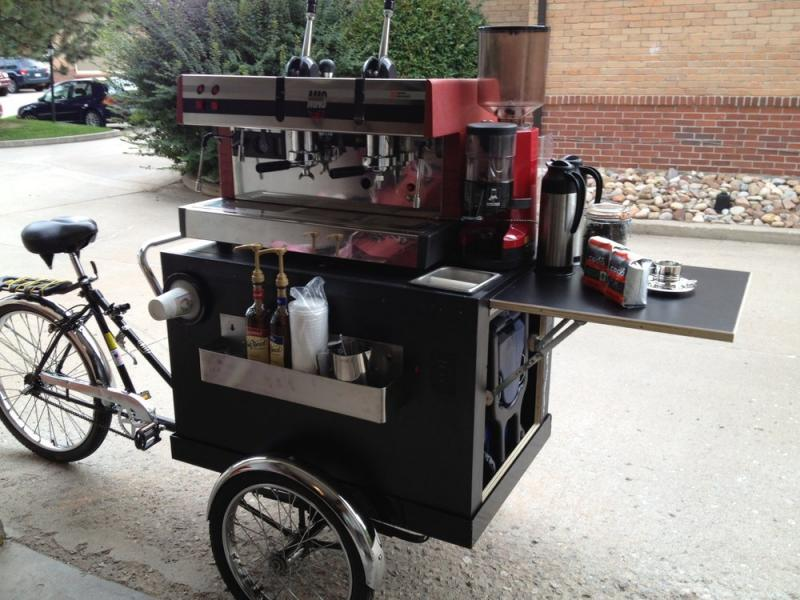 Barista bike a realistic possibility for Coffee cart for home
