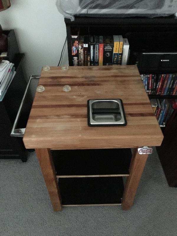 Sold Custom Butcher Block Coffee Station Table Buy Sell