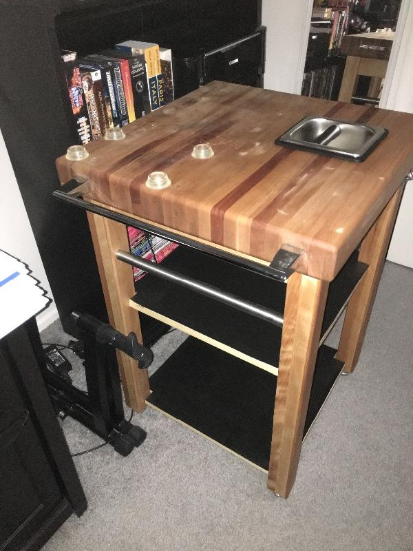 Buy Butcher Block Table Top: [SOLD] Custom Butcher Block Coffee Station/Table
