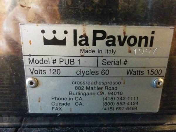 1997 la pavoni pub 1 em r should i get it. Black Bedroom Furniture Sets. Home Design Ideas