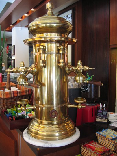 Big Bold And A Lot Of Brass Espresso Machines