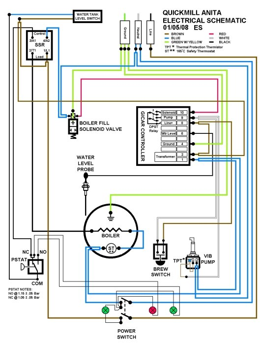 quickmill anita shuts off rh home barista com Wiring Batteries in Series Series Speaker Wiring Diagram