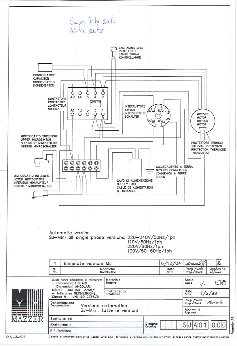 Commercial Single Group For Home Page 5 Wiring Diagram C Neutral Wire Will Be Connected To As You Can See Above The Hot And Wires Black White Respectively Need Pass Through Main Switch On Your Grinder They Connect