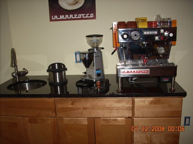 plumbed in espresso machine