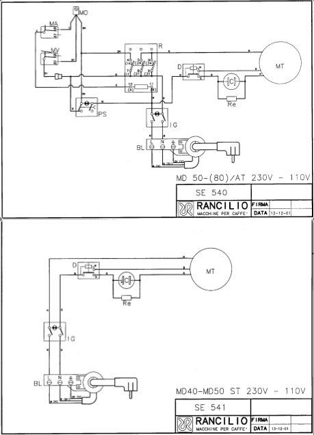 5661_md50_wiring turning a rancilio md50 at into an st home barista com bench grinder wiring diagram at webbmarketing.co