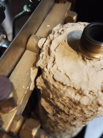 Olympia Cremina boiler asbestos insulation