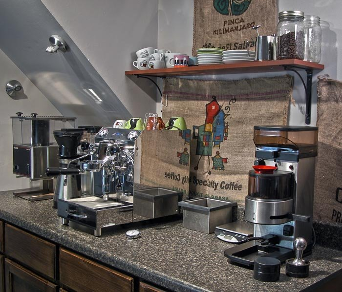 Post a pic of your home espresso setup page 143 for Coffee bar setup ideas