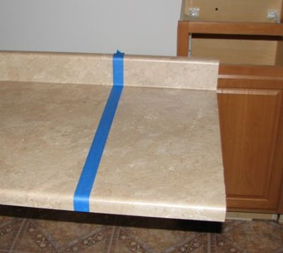 how to cut circular hole in formica countertop