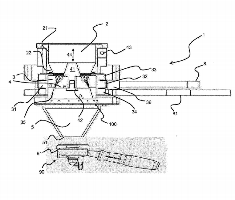 La Marzocco Has A Patent About Belt Driven Grinder Like