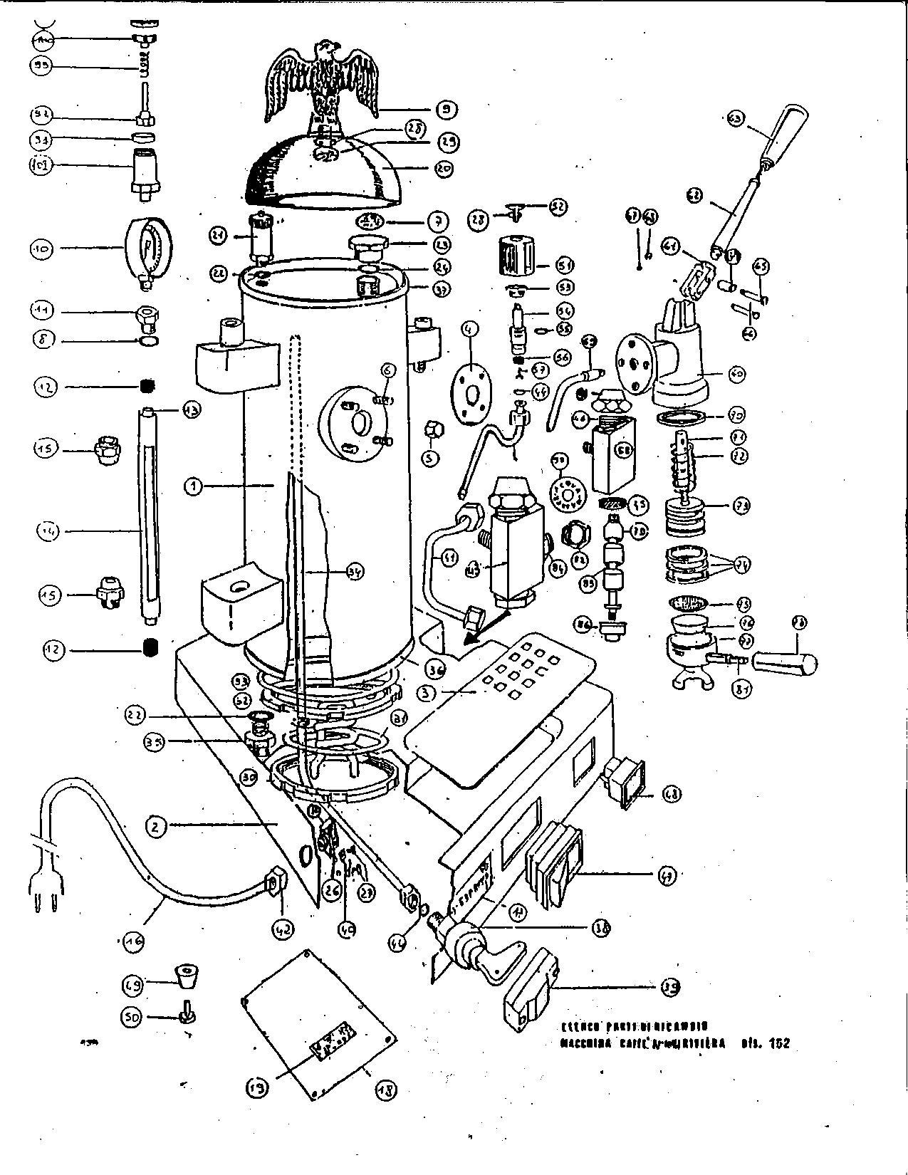 Espresso Maker Schematic   Wiring Liry on toaster schematic, ice maker schematic, cd player schematic, washing machine schematic, oven schematic, microwave schematic, alarm clock schematic, espresso boiler schematic 2, computer schematic, radio schematic, vacuum cleaner schematic, freezer schematic, industrial heat exchanger schematic, refrigerator schematic, ice machine schematic, telephone schematic,